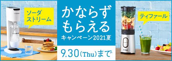 【かならずもらえるキャンペーン2021夏】[9月30日(水)まで)]